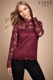 Lipsy Long Sleeve Lace Top