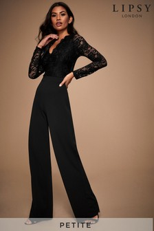 Lipsy Petite Long Sleeve Lace Jumpsuit