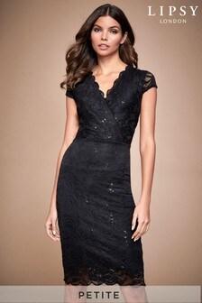 Lipsy Petite Sequin Lace Bodycon Dress