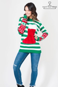 Want That Trend Pocket Christmas Jumper