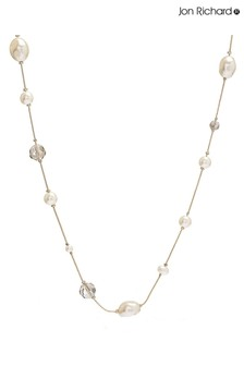Jon Richard Pearl And Bead Double Row Necklace