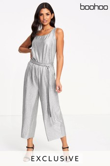 Boohoo Sleeveless Culotte Jumpsuit