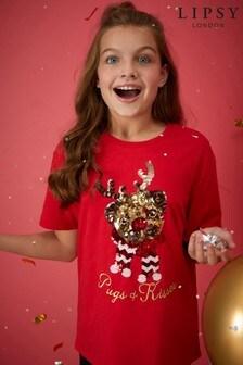 Lipsy Girl Christmas Tee