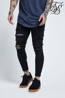 Sik Silk Distressed Skinny Fit Jeans
