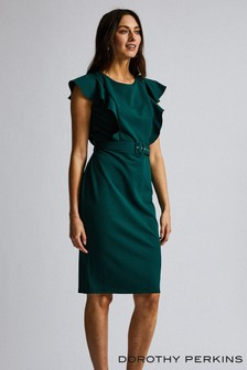 Dorothy Perkins Ruffle Belted Pencil Dress