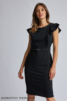 Dorothy Perkins Belted Sleeveless Dress
