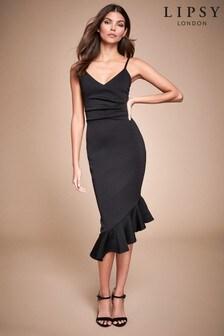 Lipsy Strappy Frill Midi Dress