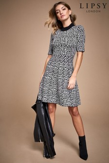 Lipsy Fit and Flare Animal Dress