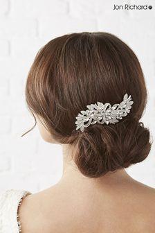 Jon Richard Crystal Louisa Ribbon Swirl Comb