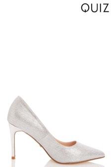 Quiz Glitter PU Herringbone Court Shoes