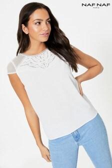 Naf Naf Fine Lace T-Shirt