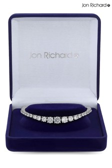 Jon Richard Cubic Zirconia Graduated Tennis Bracelet - Gift Boxed