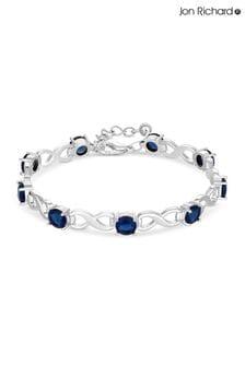 Jon Richard Crystal Infinity Blue Stone Station Bracelet