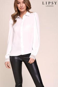 Lipsy Lace Detail Shirt