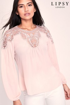 Lipsy Artwork Lace Top