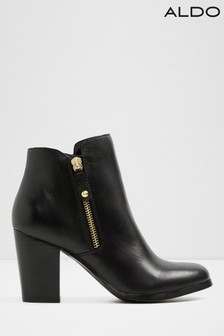 Aldo Leather Ankle Boots with Side Zip