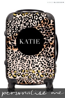 Personalised Leopard Print Cabin Suitcase By Koko Blossom