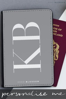 Personalised Large Initials Passport Cover By Koko Blossom