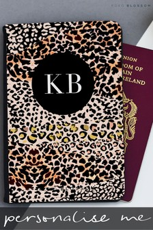 Personalised Leopard Print Passport Cover By Koko Blossom