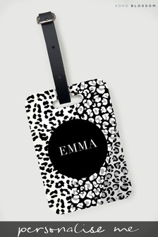 Personalised Leopard Print Luggage Tag By Koko Blossom