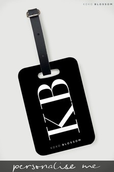 Personalised Large Initials Luggage Tag By Koko Blossom