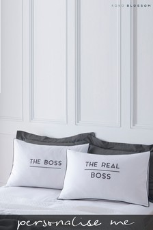 Personalised Lipsy Boss / Real Boss Pillowcase Set By Koko Blossom