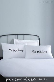 Personalised Lipsy Couples Pillowcase Set By Koko Blossom