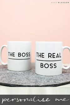 Personalised Lipsy Boss / Real Boss Mug Set By koko Blossom