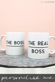 Personalised Lipsy Boss / Real Boss Mug Set By koko Blossom