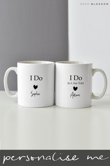 Personalised I Do / I Do As I Am Told Mug Set By Koko Blossom