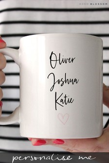 Personalised Childrens Names Mug By Koko Blossom