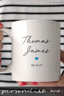 Personalised Baby Boy Mug By Koko Blossom