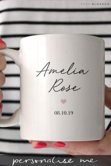 Personalised Baby Girl Mug By Koko Blossom