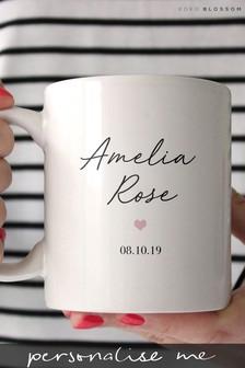Personalised Baby Girl Mug By Koko Blossom