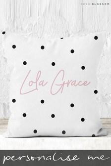 Personalised Spotty Cushion By Koko Blossom