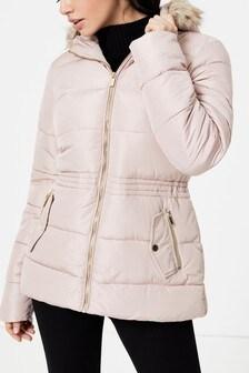 Dorothy Perkins Short Fur Padded Jacket
