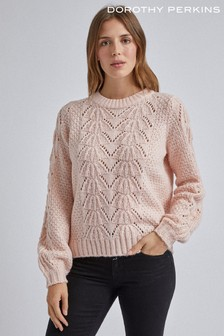 Dorothy Perkins Lofty Pointelle Mid Gauge Jumper