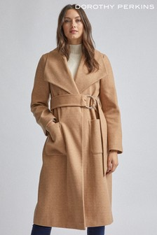 Dorothy Perkins Soft Twill Wrap Coat