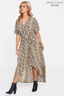 New Look Curve Snake High-Low Dress