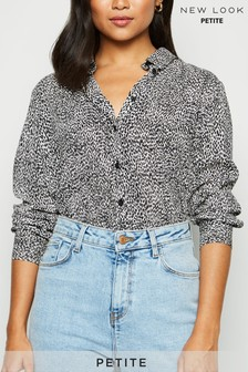 New Look Petite Animal Print Shirt