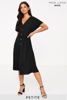 New Look Petite Button Up Midi Dress