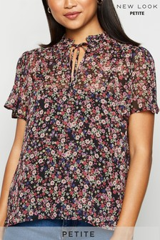 New Look Petite Floral Chiffon Blouse