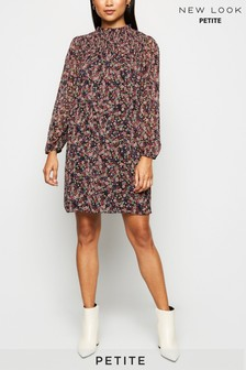 New Look Petite Floral Chiffon Smock Dress