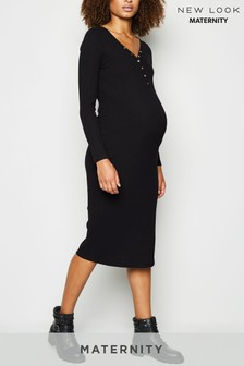 New Look Maternity Popper Nursing Midi Dress