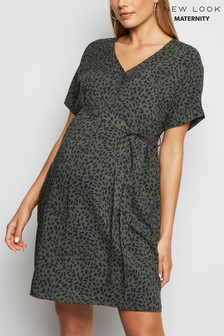 New Look Maternity Spot Tie Waist Tunic
