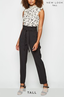 New Look Tall Tie Waist Trousers