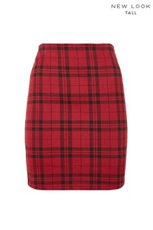 New Look Tall Check Mini Tube Skirt