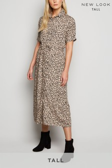 New Look Tall Elma Spot Shirt Dress
