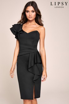 Lipsy One Shoulder Ruffle Dress