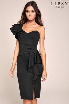Lipsy Kleid mit Rüschendetails und freier Schulter